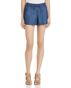 French Connection Summer Chambray Mini Shorts