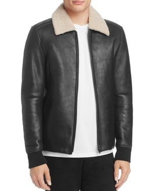 Theory Shearling Bomber Jacket