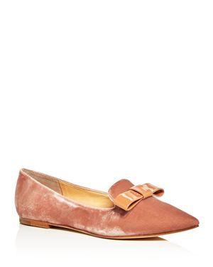 Ivanka Trump Lelle Velvet Pointed Toe Flats 2623035