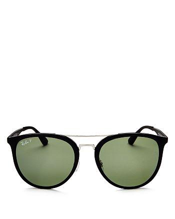 Ray-Ban - Unisex Polarized Brow Bar Square Sunglasses, 55mm