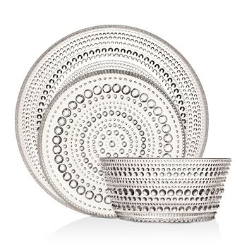 Iittala - Kastehelmi Clear 6-Piece Dinnerware Set