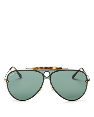 Ray-Ban Blaze Rimless Shooter Aviator Sunglasses, 132mm