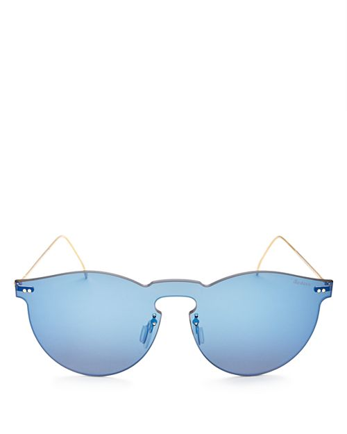 Illesteva - Women's Leonard Mask Mirrored Shield Sunglasses, 47mm