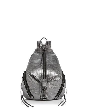 Rebecca Minkoff - Julian Metallic Medium Leather Backpack