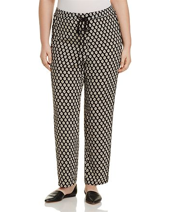 B Collection by Bobeau Curvy - Print Drawstring Pants