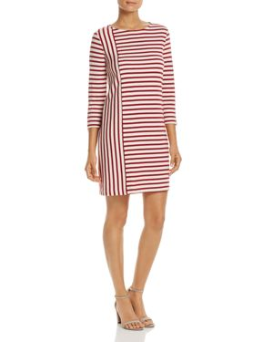 Three Dots Combo-Stripe Shift Dress