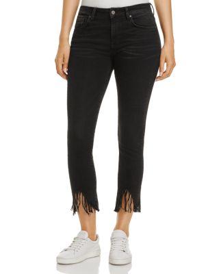 MAVI Tess Vintage Skinny Jeans In Smoke Fringe