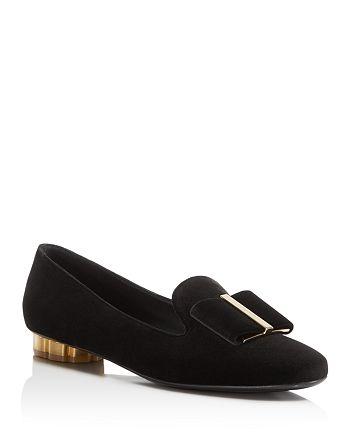 Salvatore Ferragamo - Women's Sarno Velvet Bow Loafers