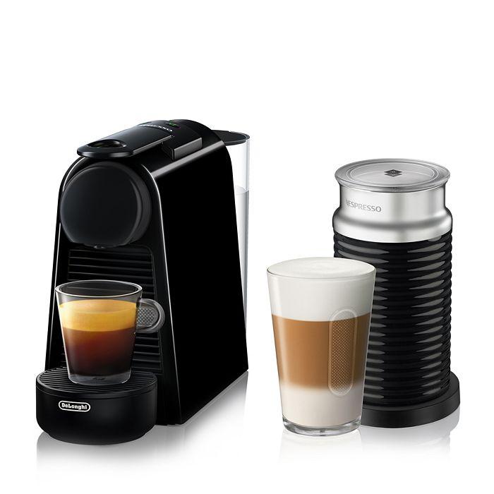 Nespresso - Essenza Mini Espresso Machine by De'Longhi with Aeroccino Milk Frother