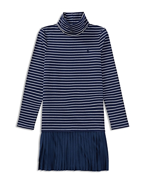 Ralph Lauren Childrenswear Girls Striped Turtleneck Shirt Dress with Pleated Skirt  Little Kid