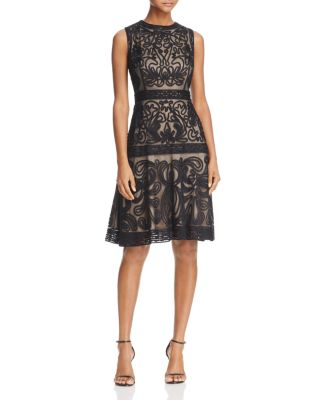 SOUTACHE FIT-AND-FLARE DRESS