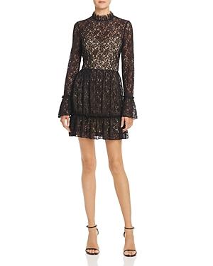 Saylor Pleated Lace Dress