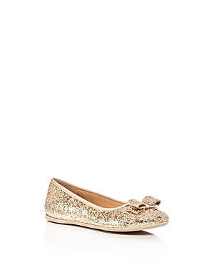 Salvatore Ferragamo Girls' Tess Glitter Ballet Flats - Toddler, Little Kid