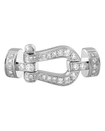 Fred - 18K White Gold Force 10 Diamond Medium Buckle