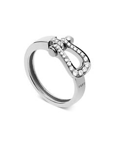 Fred 18K White Gold Force 10 Diamond Medium Ribbon Ring - Bloomingdale's_0