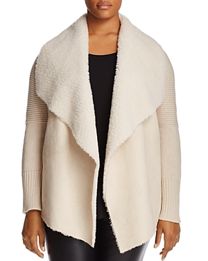 Bagatelle Plus Faux Shearling Draped Jacket