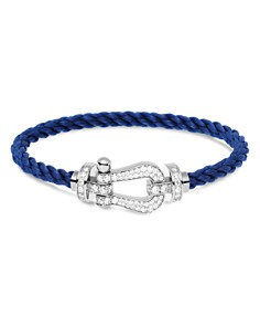 Fred - Force 10 Large Cable Bracelets and 18K White Gold Buckles