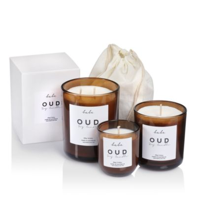 Large Oud Candle