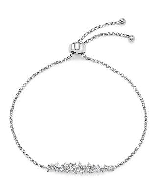 Bloomingdale S Diamond Cluster Bolo Bracelet In 14k White Gold 50