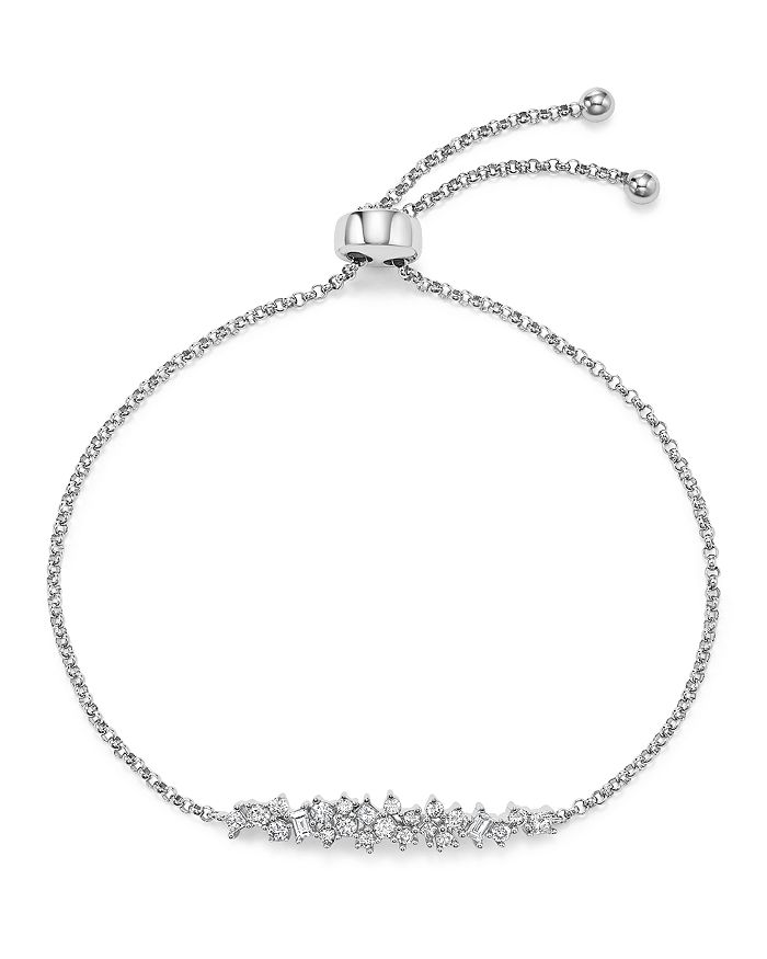 Bloomingdale's - Diamond Cluster Bolo Bracelet in 14K White Gold, .50 ct. t.w. - 100% Exclusive