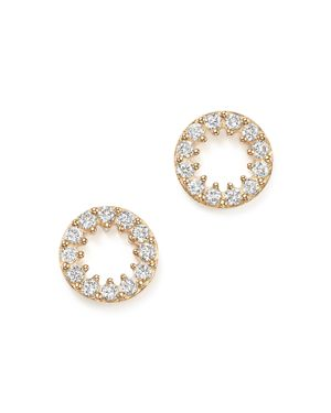 Diamond Circle Stud Earrings in 14K Yellow Gold, .35 ct. t.w. - 100% Exclusive