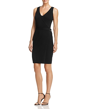 Guess Allison Rib-Knit Faux Wrap Dress