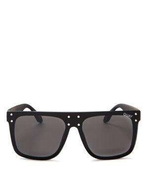 Quay #Quayxkylie Hidden Hills Shield Sunglasses, 55mm