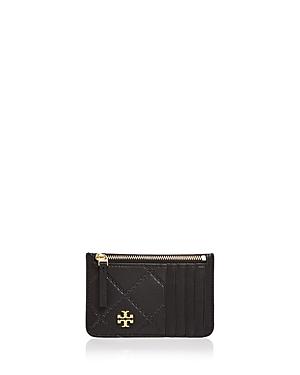 Tory Burch Georgia Top Zip Leather Card Case