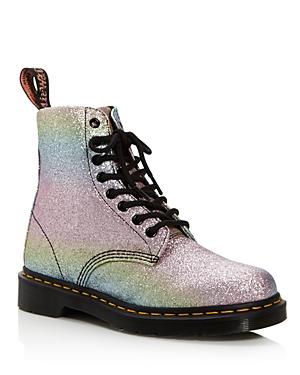 Dr. Martens Pascal Rainbow Glitter Combat Boots