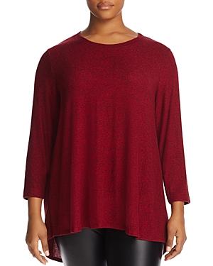 Nally & Millie Plus High/Low Tunic Sweater