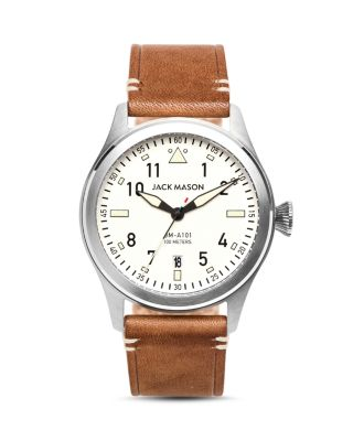 AVIATION LEATHER STRAP WATCH, 42MM