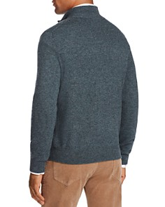 The Men's Store at Bloomingdale's - Cashmere Suede Trim Half-Zip Sweater - 100% Exclusive