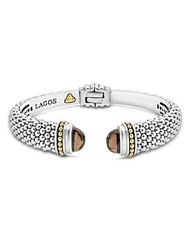 LAGOS - 18K Gold and Sterling Silver Caviar Color Gemstone Cuffs, 12mm