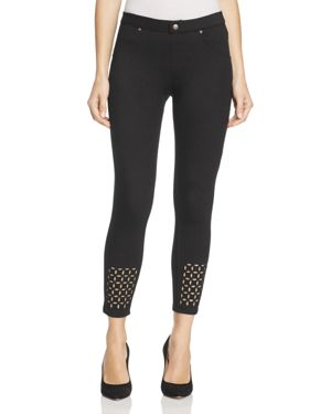 Hue Eyelet Denim Skimmer Leggings