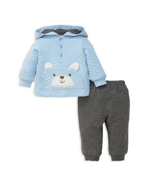 Little Me Boys' Bear Hoodie & Sweatpants Set - Baby