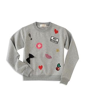 kate spade new york Girls Patched Sweatshirt  Big Kid