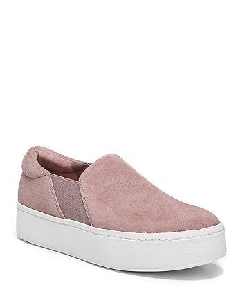 Vince - Women's Warren Suede Platform Slip-On Sneakers