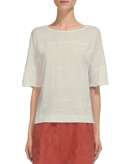 Whistles - Fluted-Cuff Linen Tee