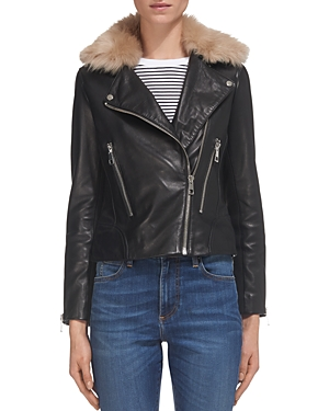 Whistles Toscana Leather Moto Jacket