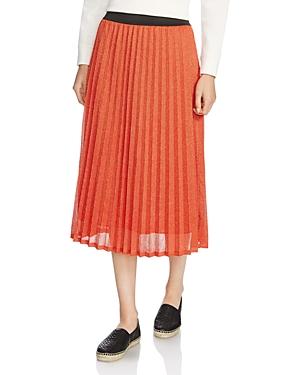Maje Jazy Pleated Knit Skirt