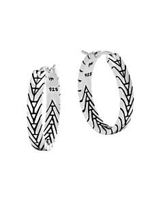 John Hardy Modern Chain Silver Medium Hoop Earrings 9753Z7