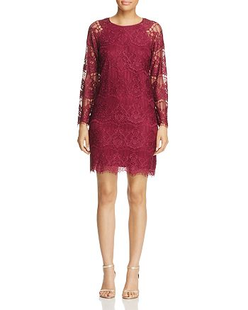 Adrianna Papell - Scalloped Lace Dress