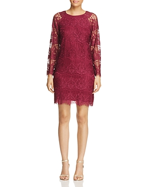 Adrianna Papell Scalloped Lace Dress