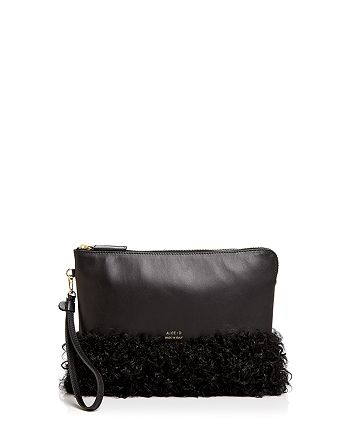 Alice.D - Shearling and Leather Clutch