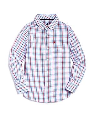 Johnnieo Boys Plaid ButtonDown Performance Shirt  Big Kid