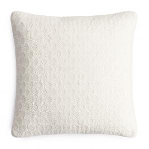 Hudson Park Interlock Velvet Embroidered Decorative Pillow, 18 x 18 - 100% Exclusive