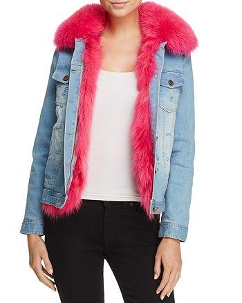 Peri Luxe - Fox Fur-Lined Denim Jacket - 100% Exclusive