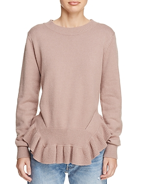 dRA Mai Ruffled Peplum Sweater