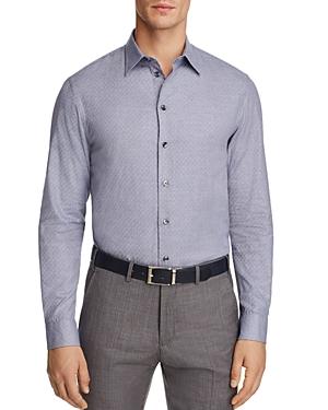 Armani Collezioni Contrast Pattern Check Classic Fit Button-Down Shirt