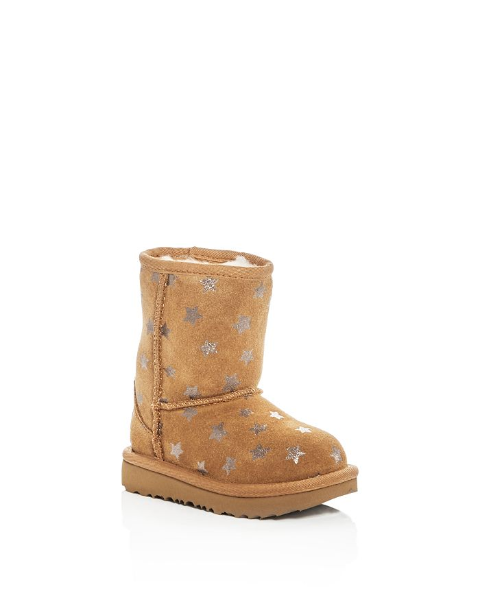 UGG® - Girls' Classic Short II Stars Suede Boots - Walker, Toddler